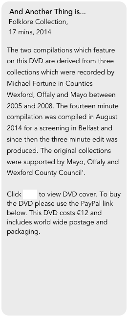 And Another Thing is...